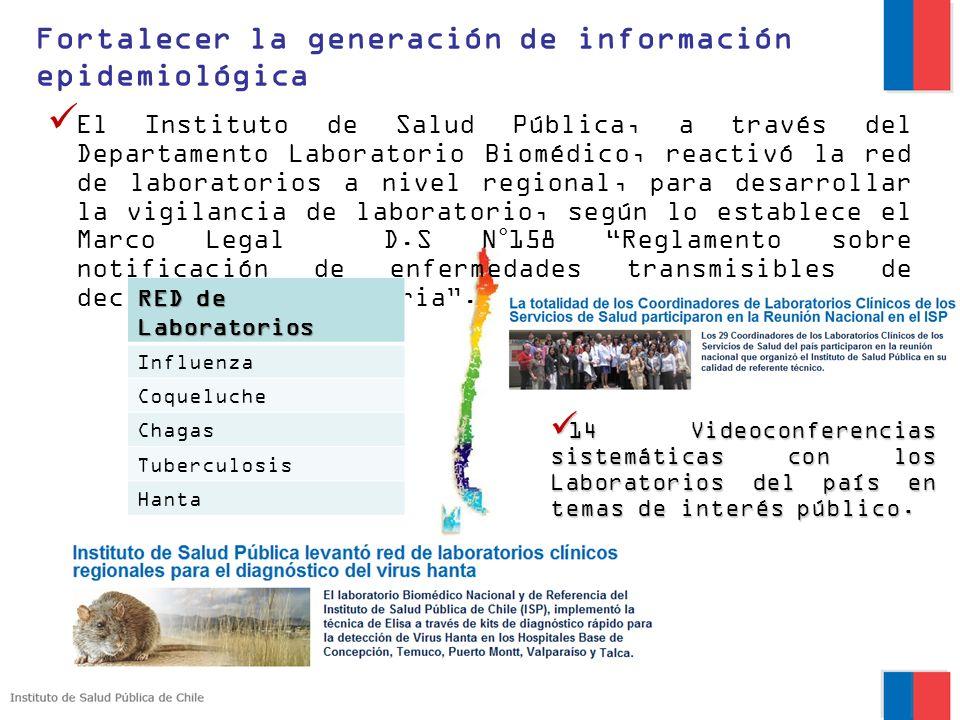 El Instituto de Salud Pública, a través del Departamento Laboratorio Biomédico, reactivó la red de laboratorios a nivel regional, para desarrollar la