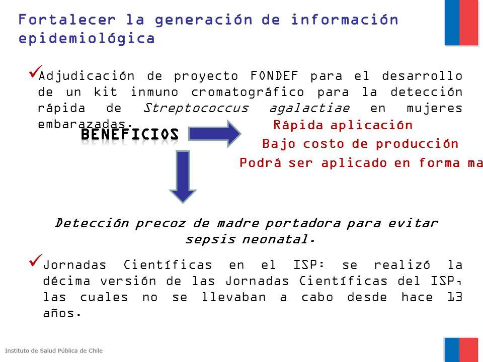 Adjudicación de proyecto FONDEF para el desarrollo de un kit inmuno cromatográfico para la detección rápida de Streptococcus agalactiae en mujeres emb