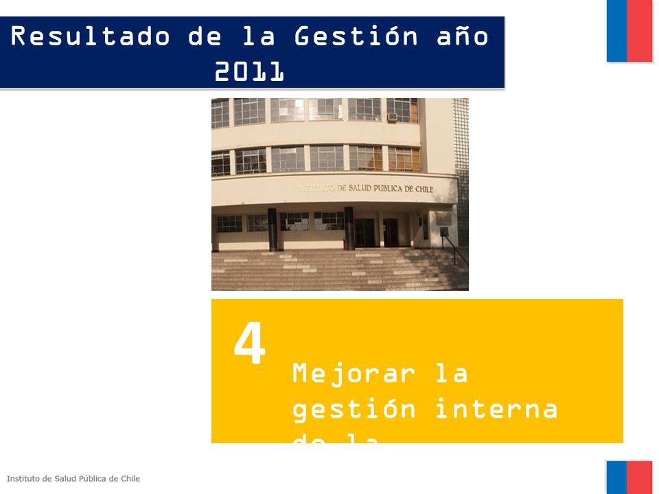 Resultado de la Gestión año 2011 Fortalecer la generación de información epidemiológica. 3 4 Mejorar la gestión interna de la institución.