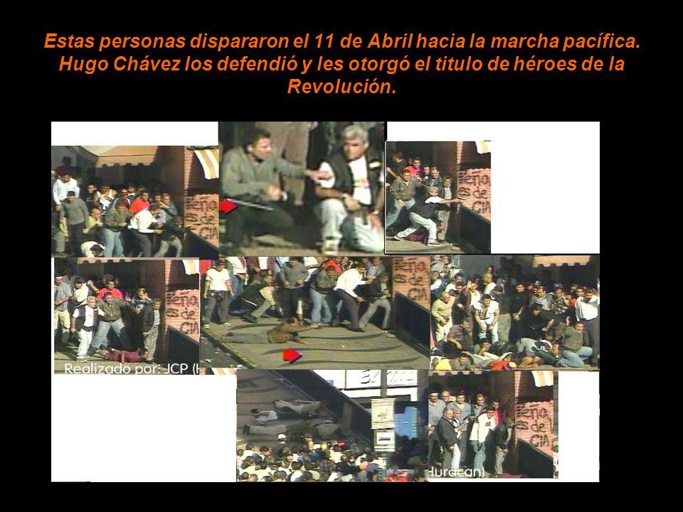 Estas personas dispararon el 11 de Abril hacia la marcha pacífica.