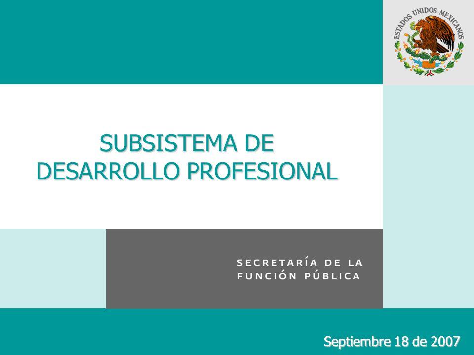 SUBSISTEMA DE DESARROLLO PROFESIONAL Septiembre 18 de 2007