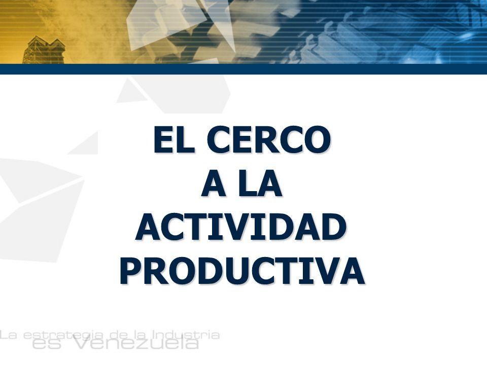 EL CERCO A LA ACTIVIDAD PRODUCTIVA