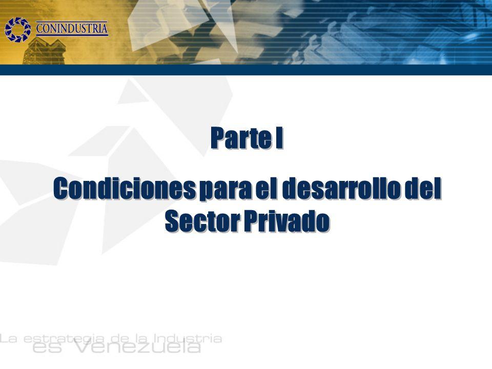 Condiciones para el desarrollo del Sector Privado Parte I