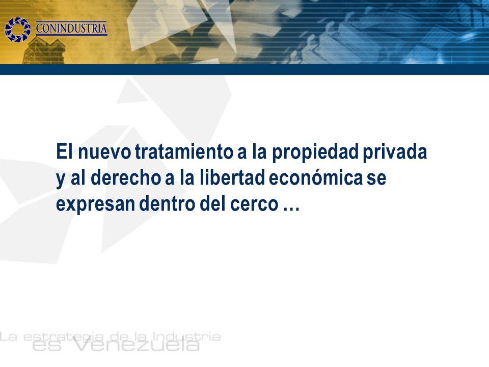 El nuevo tratamiento a la propiedad privada y al derecho a la libertad económica se expresan dentro del cerco …