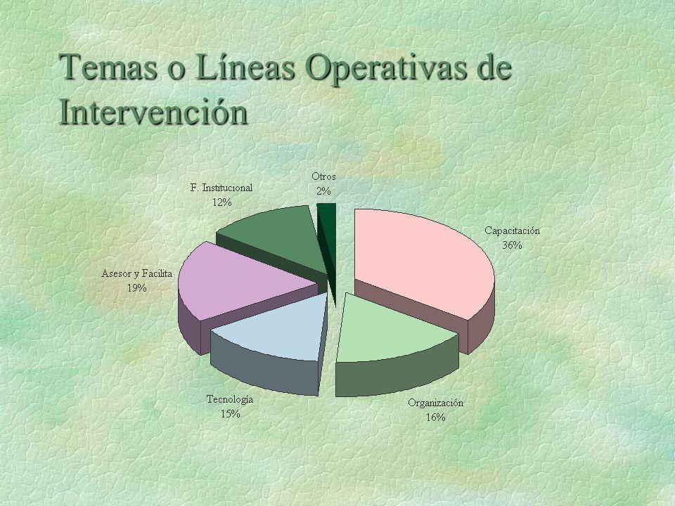 Temas o Líneas Operativas de Intervención