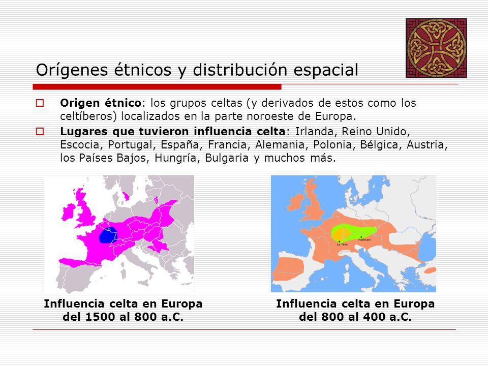 Orígenes étnicos y distribución espacial Origen étnico: los grupos celtas (y derivados de estos como los celtíberos) localizados en la parte noroeste