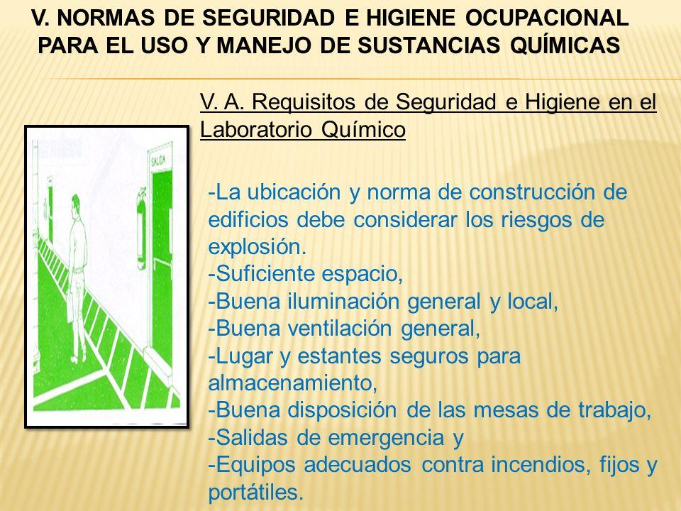 -La ubicación y norma de construcción de edificios debe considerar los riesgos de explosión. -Suficiente espacio, -Buena iluminación general y local,