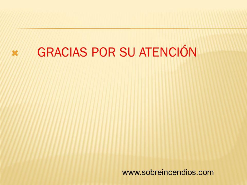 GRACIAS POR SU ATENCIÓN www.sobreincendios.com