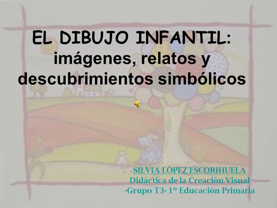 EL DIBUJO INFANTIL : imágenes, relatos y descubrimientos simbólicos SILVIA LÓPEZ ESCORIHUELA Didáctica de la Creación Visual -Grupo T3- 1º Educación P