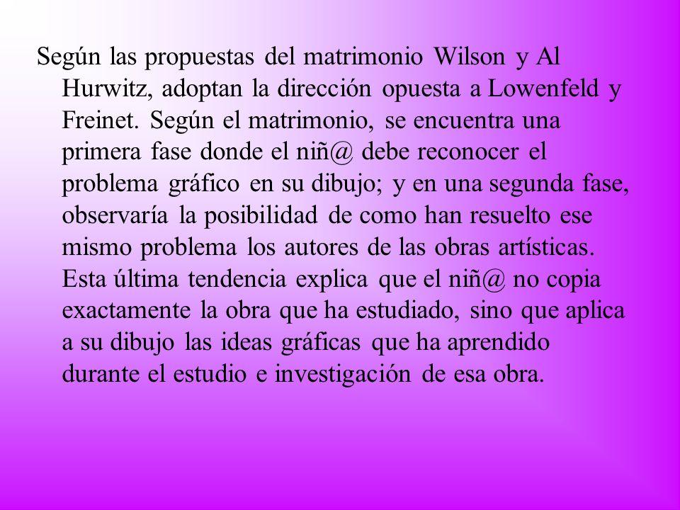 Según las propuestas del matrimonio Wilson y Al Hurwitz, adoptan la dirección opuesta a Lowenfeld y Freinet. Según el matrimonio, se encuentra una pri