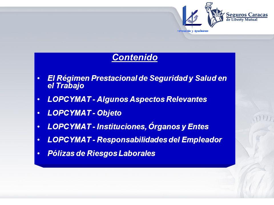 RIESGOS LABORALES La Nueva LOPCYMAT y la Responsabilidad del Empleador por Accidentes de Trabajo y Enfermedades Ocupacionales Protección y Rendimiento