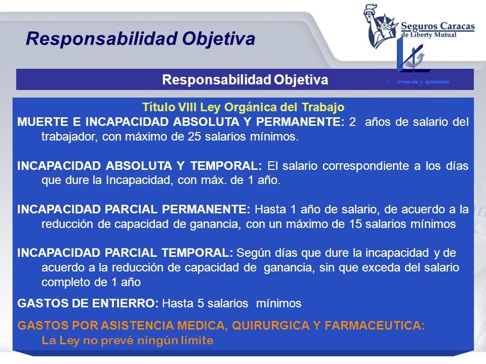 Responsabilidades del Empleador Relación entre el Título VIII de la Ley Orgánica del Trabajo y La Ley del Seguro Social Título VIII de la Ley Orgánica