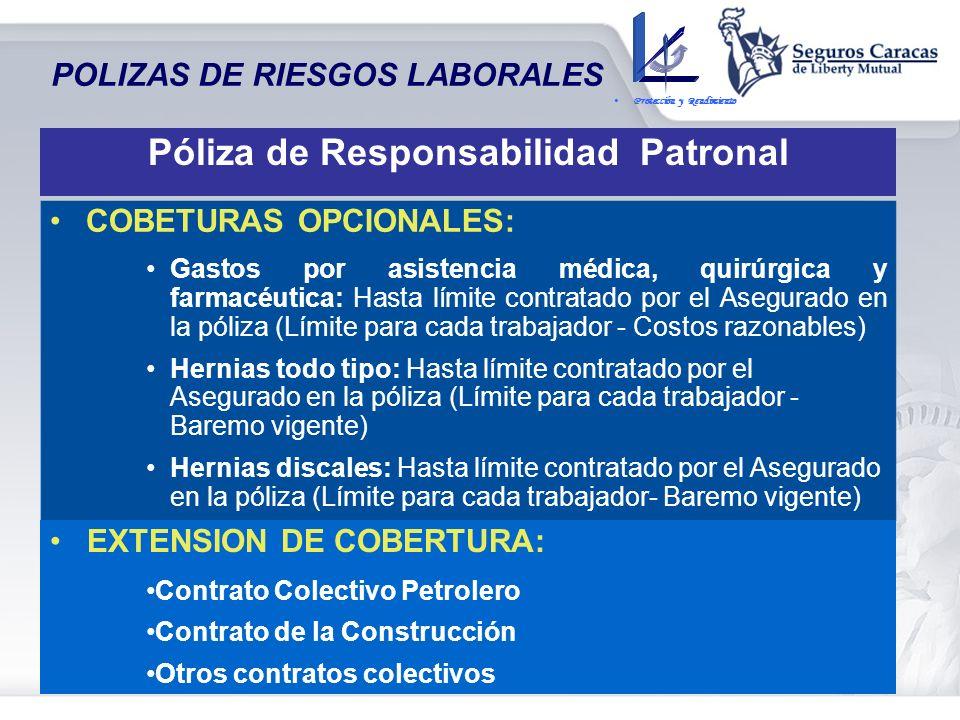 POLIZAS DE RIESGOS LABORALES COBERTURA BÁSICA: Responsabilidad Objetiva del Empleador – Prestaciones dinerarias señaladas en el Titulo VIII LOT MUERTE