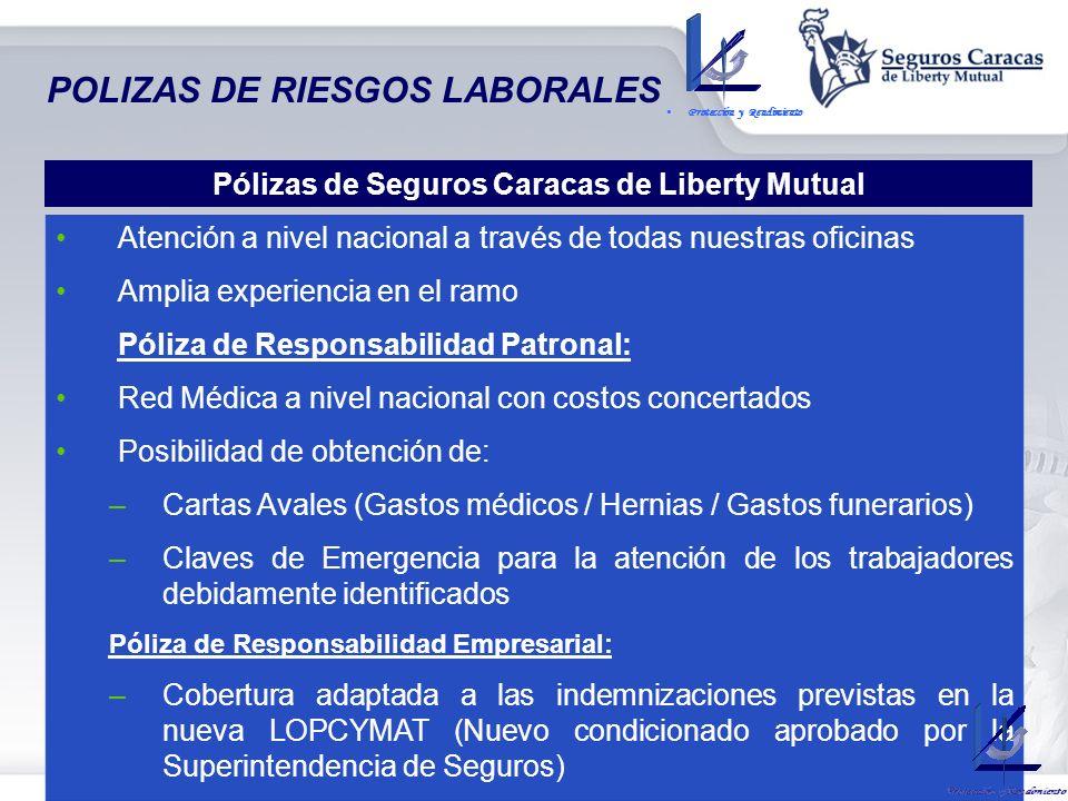 POLIZAS DE RIESGOS LABORALES - COBERTURAS OPCIONALES: Responsabilidad del Empleador por Negligencia Asistencia Legal y Defensa Penal Gastos Médicos-Qu