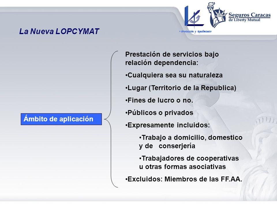BASE LEGAL Ley Orgánica del Sistema de Seguridad Social Ley Orgánica de Prevención, Condiciones y Medio Ambiente de Trabajo (LOPCYMAT) Reglamento de l