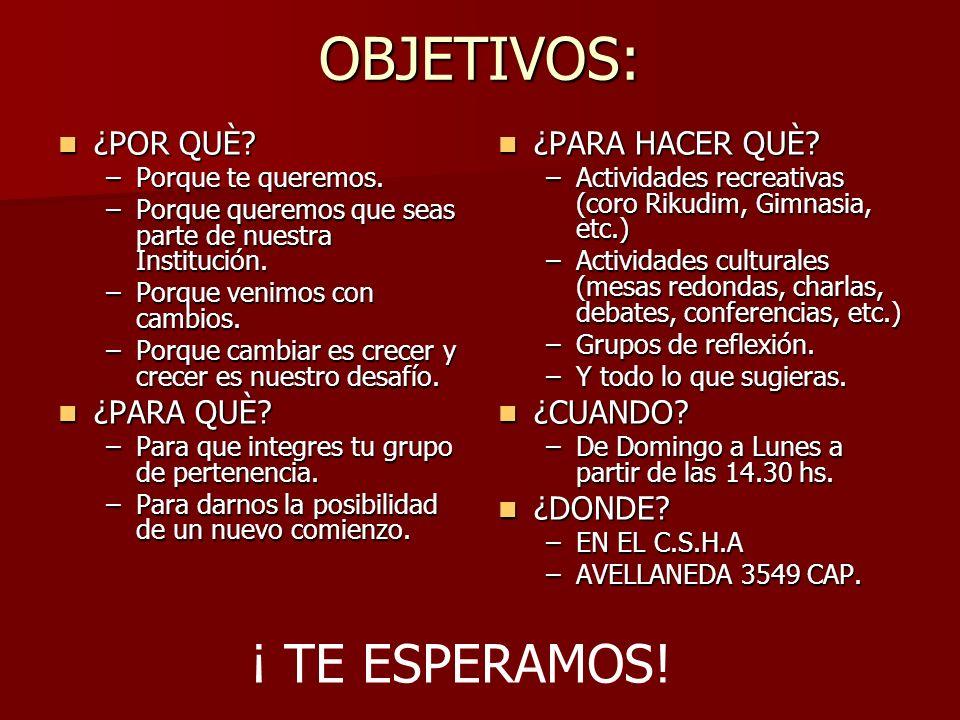 RIKUDIM ( DOS GRUPOS) RIKUDIM ( DOS GRUPOS) CORO CORO JUEGOS TEATRALES JUEGOS TEATRALES ELENCO TEATRAL ELENCO TEATRAL YOGA( DOS GRUPOS) YOGA( DOS GRUPOS) TALLERES DE P.N.L.(CUATRO TALLERES) TALLERES DE P.N.L.(CUATRO TALLERES) DANZAS FOLKLÒRICAS ARG DANZAS FOLKLÒRICAS ARG TANGO TANGO TALLER DE REFLEXIÒN TALLER DE REFLEXIÒN Taller DE MEMORIA Taller DE MEMORIA GRUPO DE AUTOAYUDA GRUPO DE AUTOAYUDA CONFERENCIAS CONFERENCIAS CINE DEBATE CINE DEBATE TEATRO LEÍDO TEATRO LEÍDO GIMNASIA RITMICA GIMNASIA RITMICA FESTEJO DE JAGUIM FESTEJO DE JAGUIM CABALTH SHABAT.
