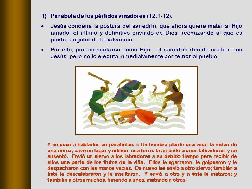1)Parábola de los pérfidos viñadores (12,1 12).
