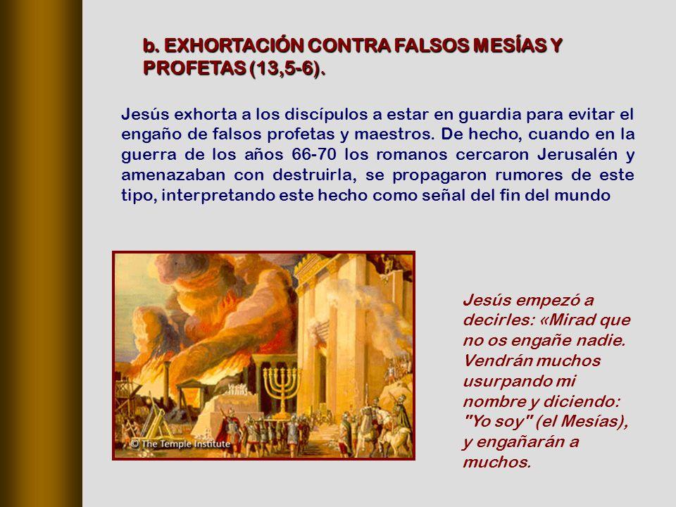 Jesús exhorta a los discípulos a estar en guardia para evitar el engaño de falsos profetas y maestros.
