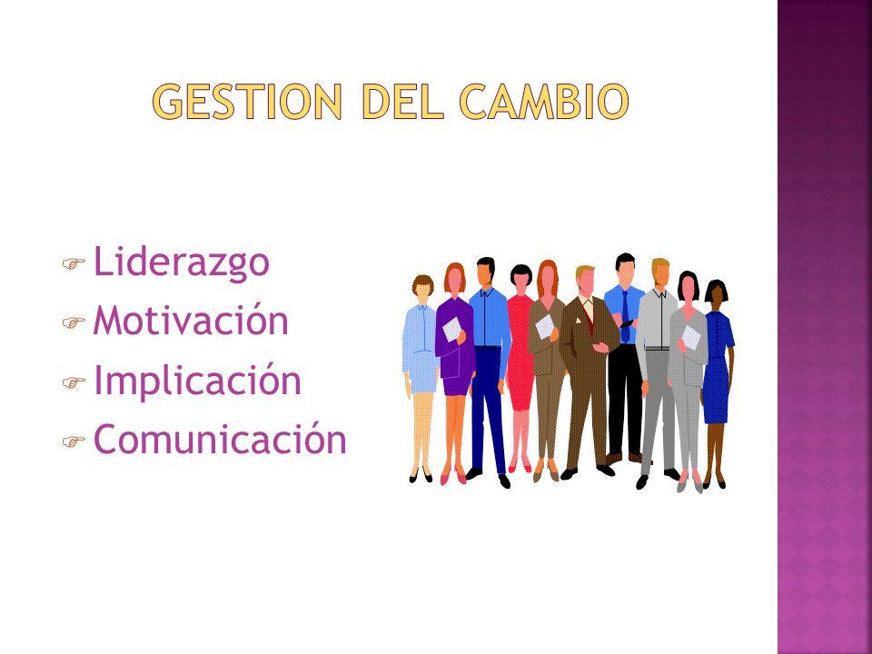 Liderazgo Motivación Implicación Comunicación