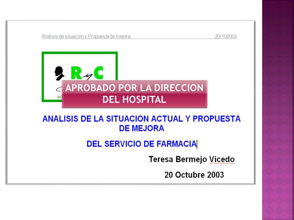 APROBADO POR LA DIRECCION DEL HOSPITAL