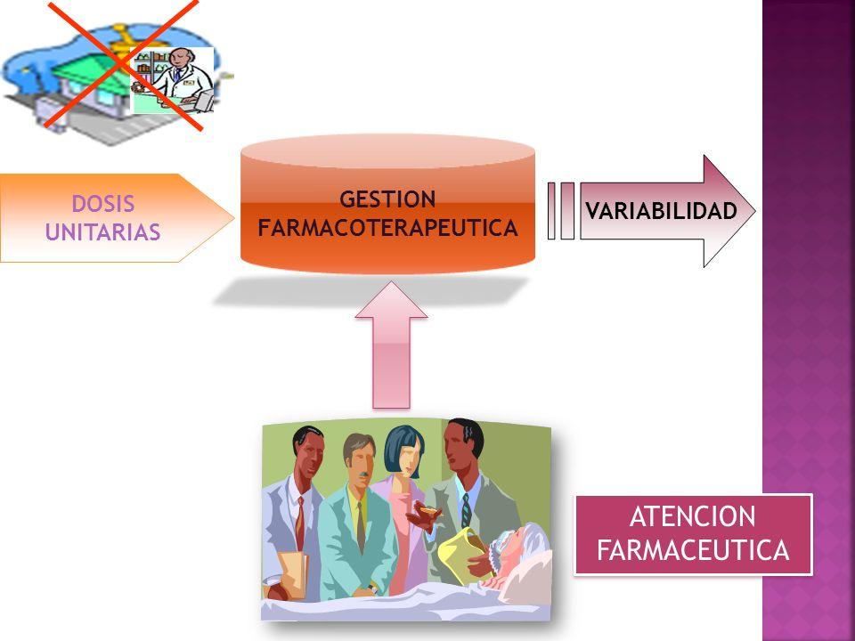 DOSIS UNITARIAS VARIABILIDAD ATENCION FARMACEUTICA GESTION FARMACOTERAPEUTICA