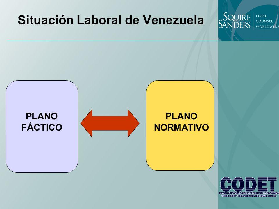 Situación Laboral de Venezuela PLANO NORMATIVO PLANO FÁCTICO