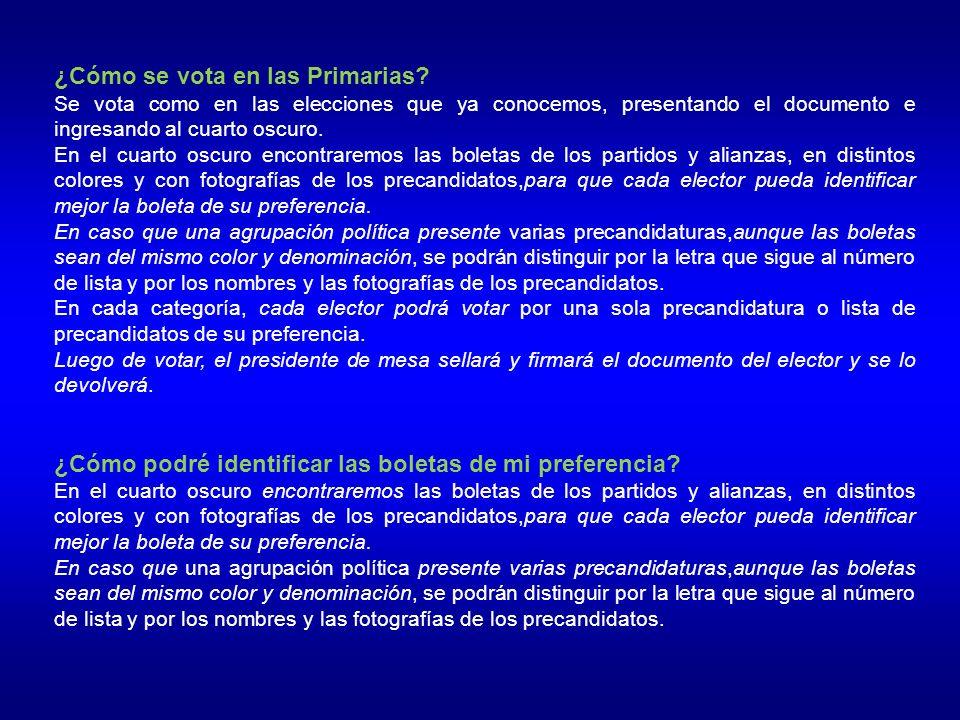 ¿Cómo se vota en las Primarias.