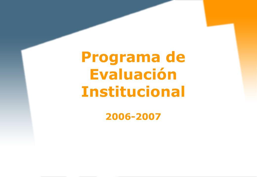El PEI evalúa las enseñanzas universitarias conducentes a la obtención de títulos de carácter oficial y validez en todo el territorio nacional.