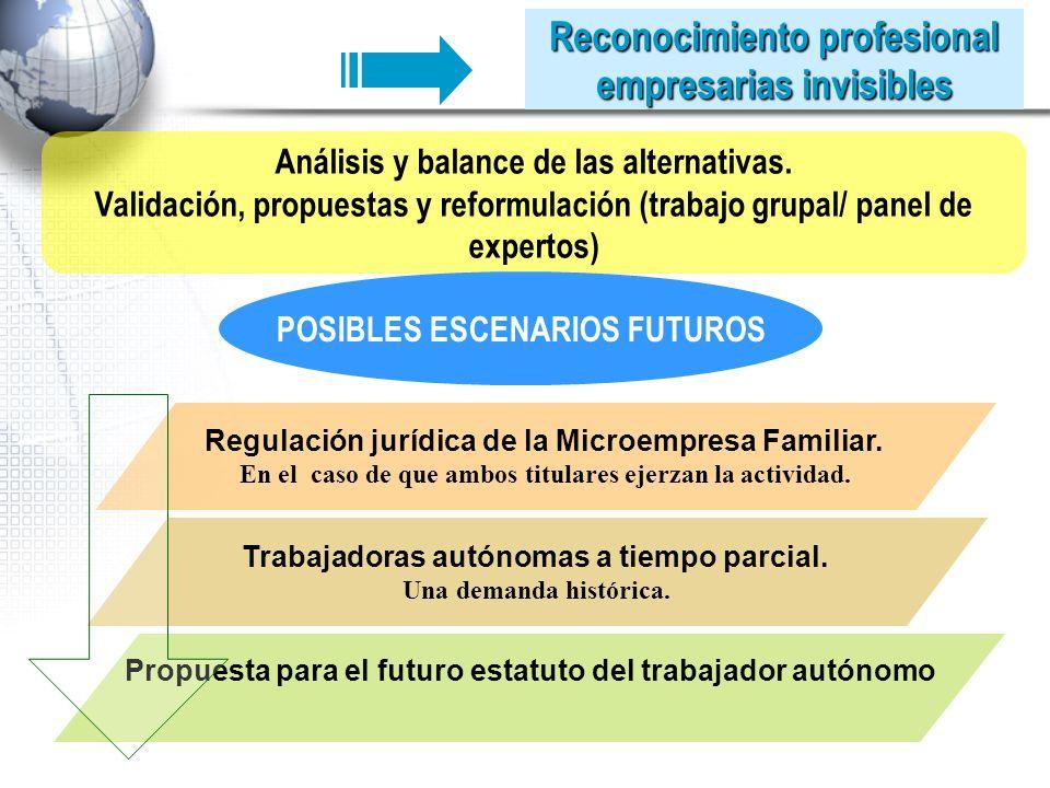 Análisis y balance de las alternativas.