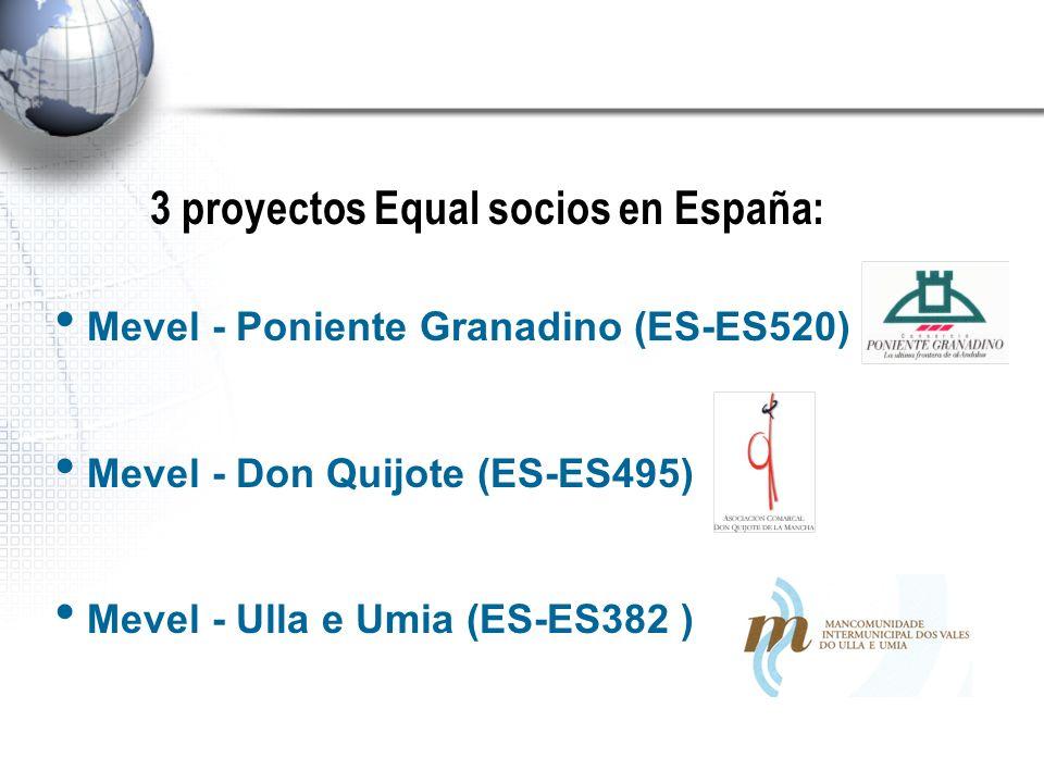 Situación geográfica de los territorios objetivo de los proyectos Mevel - Poniente Granadino