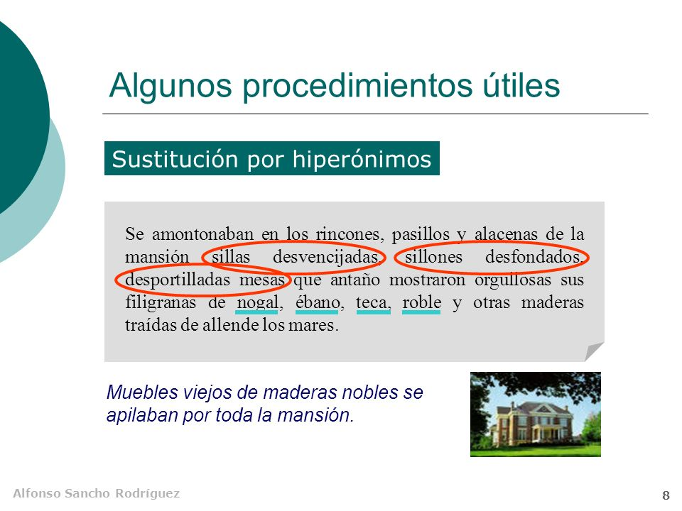 Alfonso Sancho Rodríguez 7 ¿Resumen por párrafos? Pero pueden utilizarse varios párrafos si la complejidad conceptual o estructural del texto original