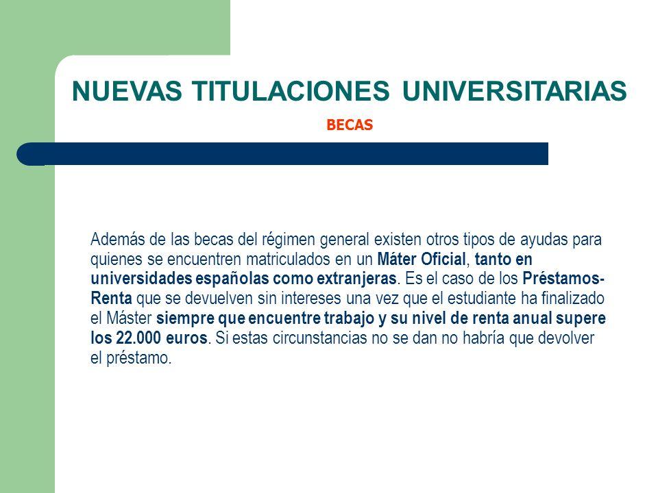 Además de las becas del régimen general existen otros tipos de ayudas para quienes se encuentren matriculados en un Máter Oficial, tanto en universida