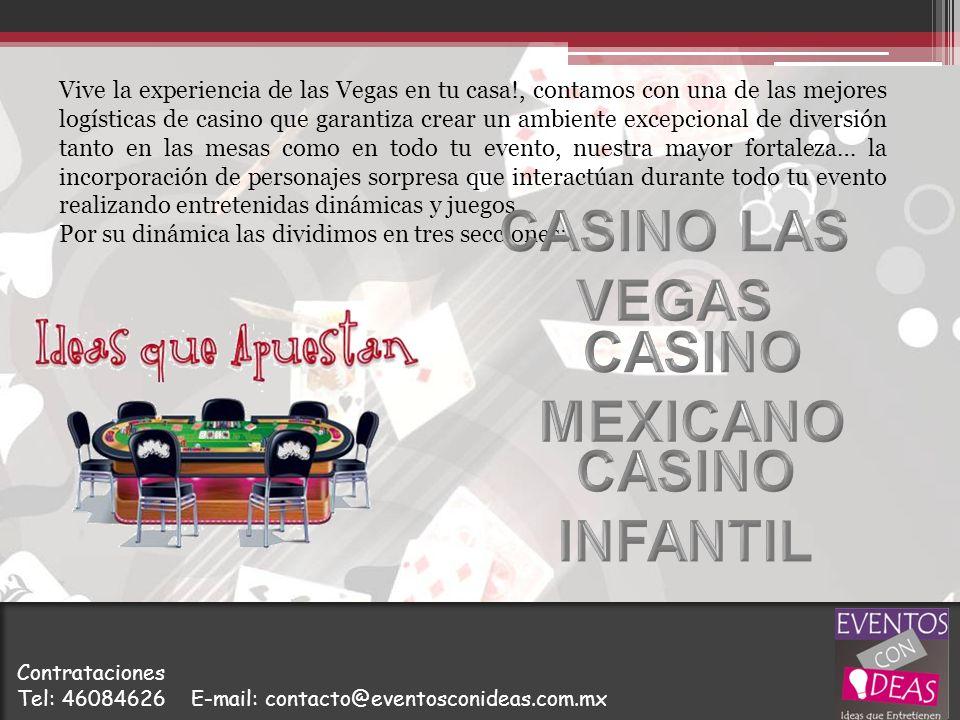 Vive la experiencia de las Vegas en tu casa!, contamos con una de las mejores logísticas de casino que garantiza crear un ambiente excepcional de dive