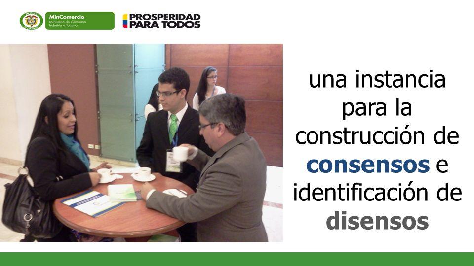 una instancia para la construcción de consensos e identificación de disensos