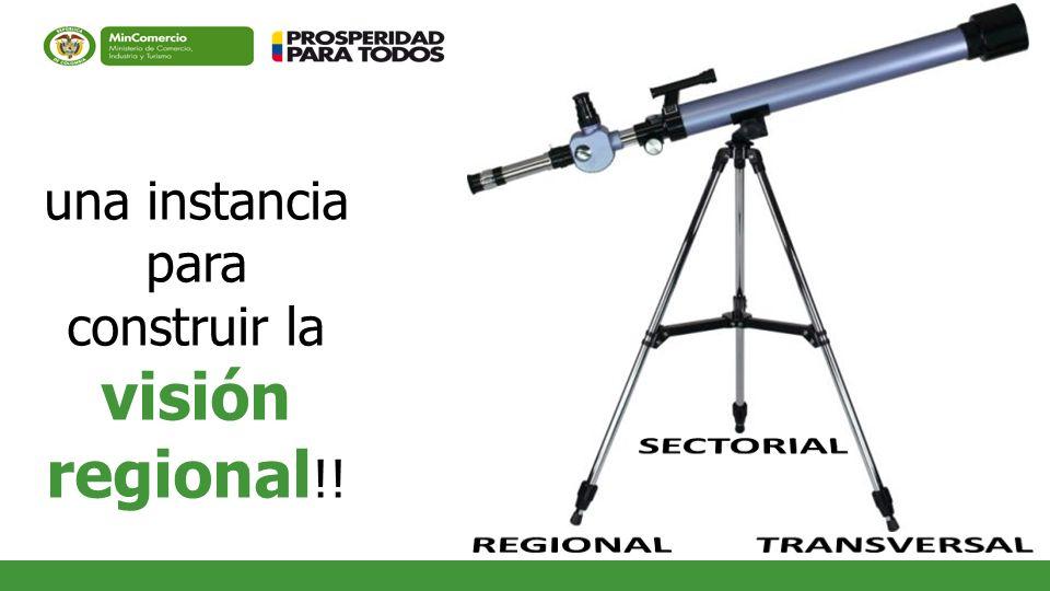 una instancia para construir la visión regional !!