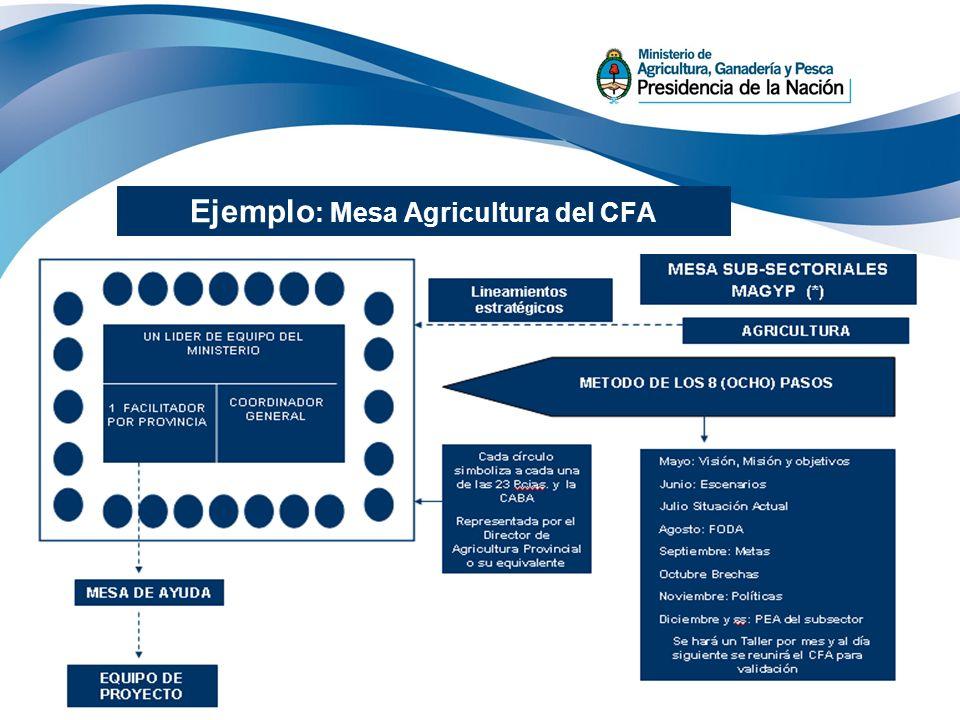 29 Ejemplo : Mesa Agricultura del CFA