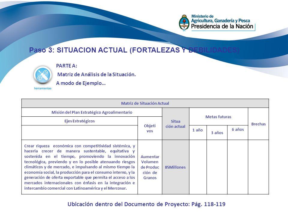 Paso 3: SITUACION ACTUAL (FORTALEZAS Y DEBILIDADES) PARTE A: Matriz de Análisis de la Situación.