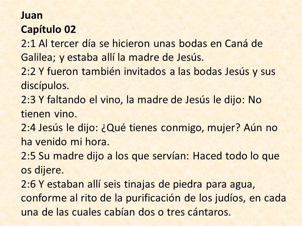 Biblia Reina Valera 1960 Evangelio de Juan Capitulo 2