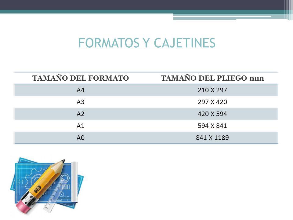 FORMATOS Y CAJETINES