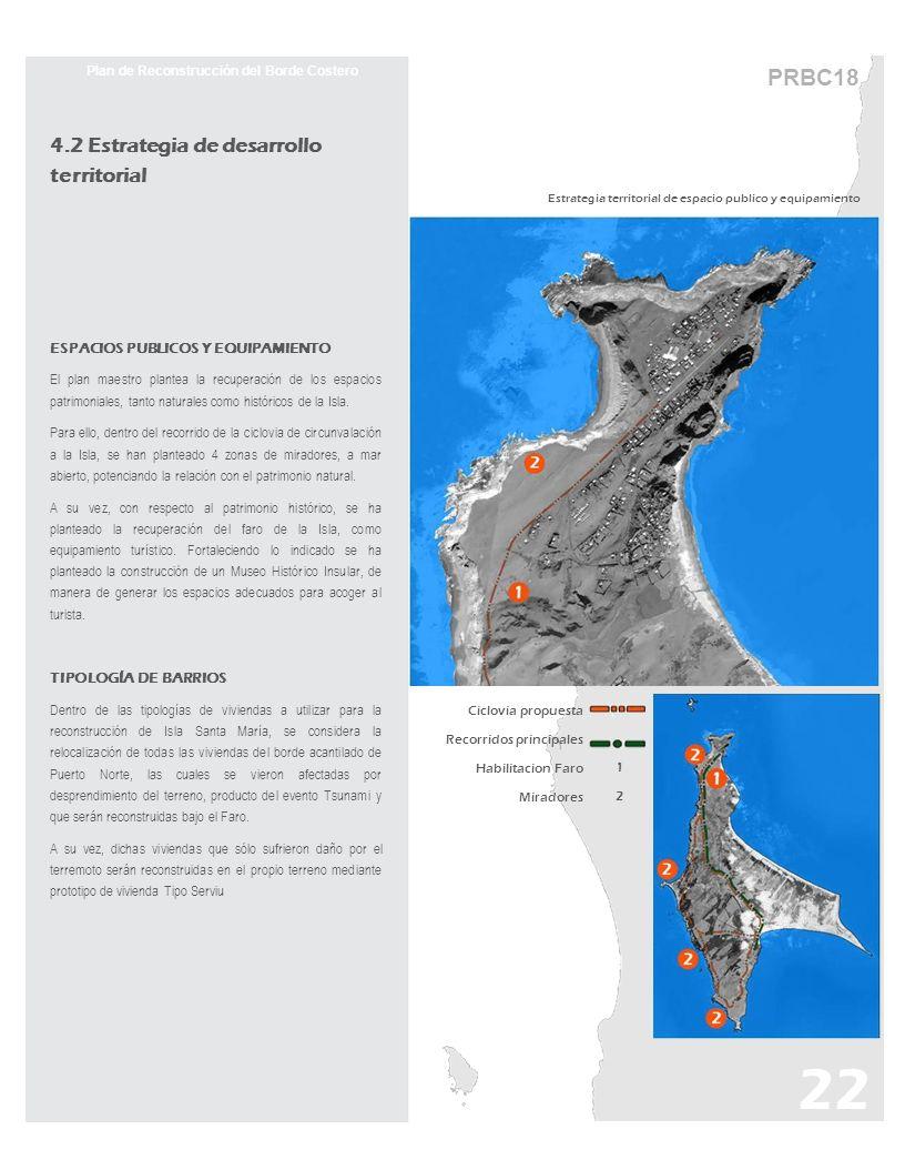 PRBC18 Estrategia territorial de espacio publico y equipamiento Plan de Reconstrucción del Borde Costero 4.2 Estrategia de desarrollo territorial ESPA
