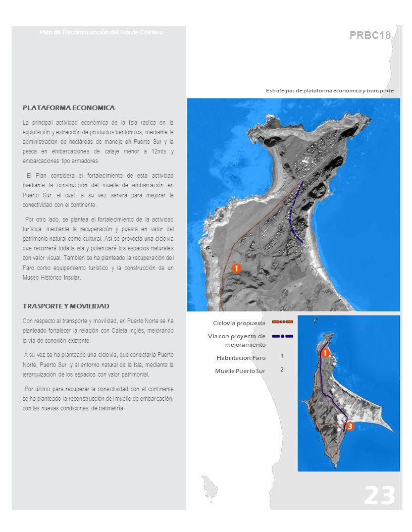 PRBC18 Plan de Reconstrucción del Borde Costero PLATAFORMA ECONOMICA La principal actividad económica de la Isla radica en la explotación y extracción