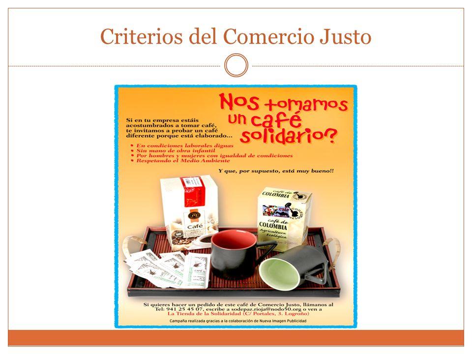 Etiqueta tienda Criterios del Comercio Justo