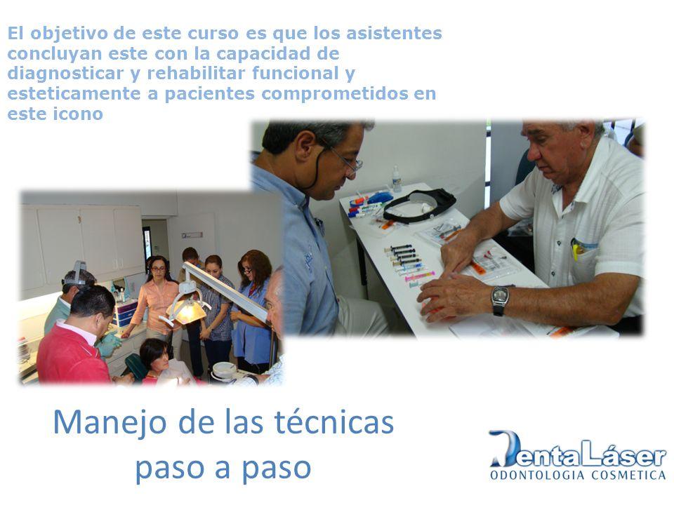 Manejo de las técnicas paso a paso El objetivo de este curso es que los asistentes concluyan este con la capacidad de diagnosticar y rehabilitar funci
