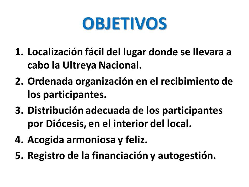 OBJETIVOS 1.Localización fácil del lugar donde se llevara a cabo la Ultreya Nacional.