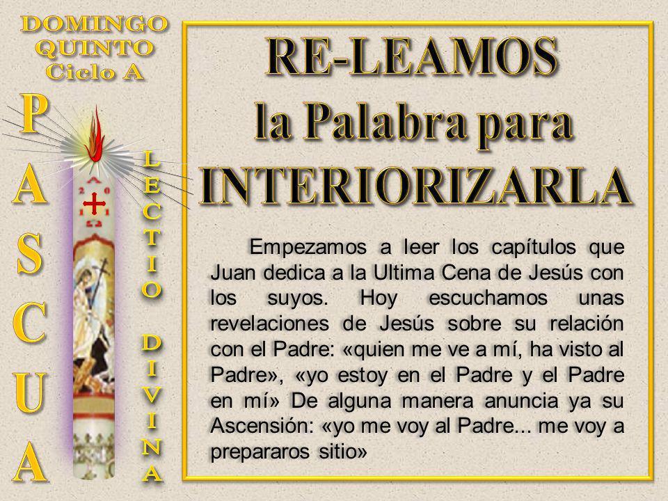 Empezamos a leer los capítulos que Juan dedica a la Ultima Cena de Jesús con los suyos. Hoy escuchamos unas revelaciones de Jesús sobre su relación co