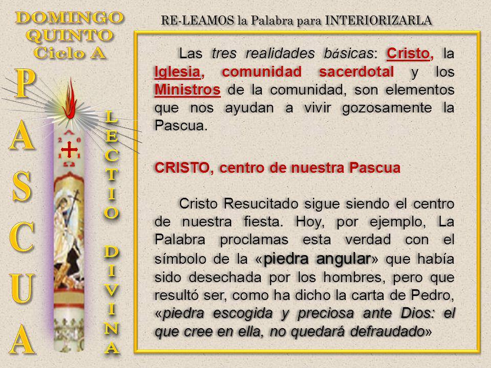 Las tres realidades b á sicas: Cristo, la Iglesia, comunidad sacerdotal y los Ministros de la comunidad, son elementos que nos ayudan a vivir gozosame