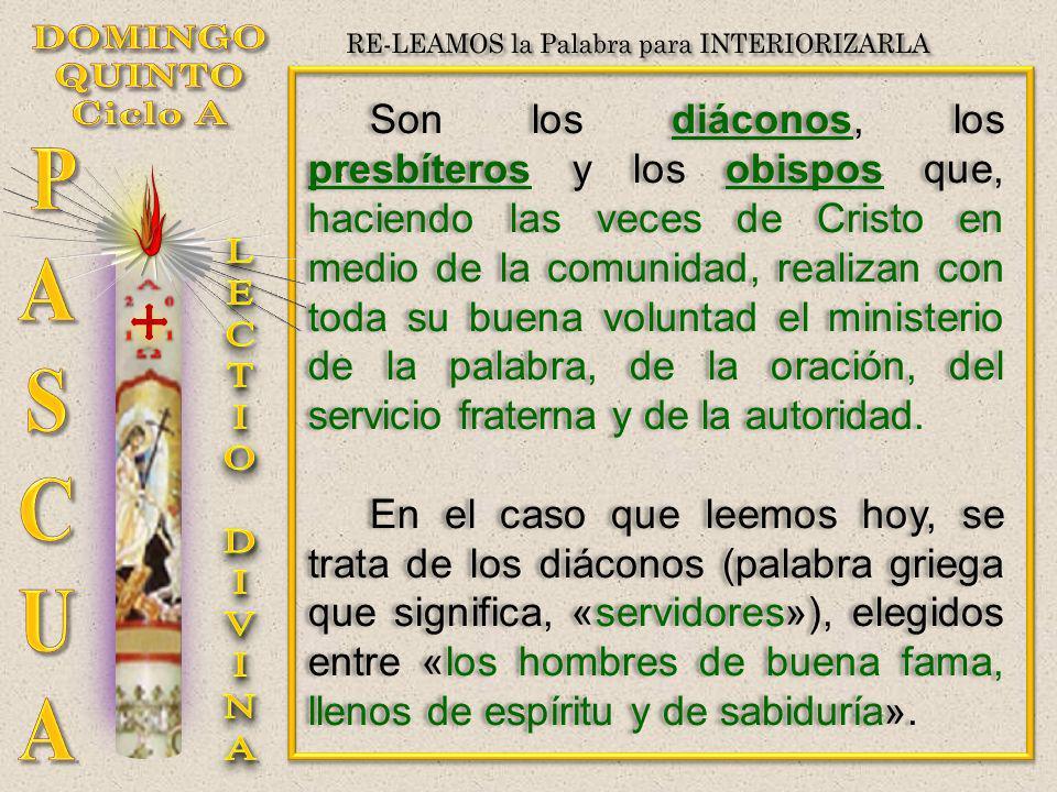 Son los diáconos, los presbíteros y los obispos que, haciendo las veces de Cristo en medio de la comunidad, realizan con toda su buena voluntad el min