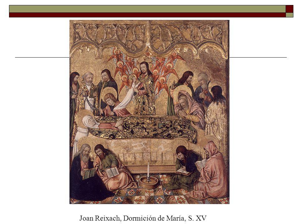 Abrazo en la Puerta DoradaJoan Reixach, Dormición de María, S. XV