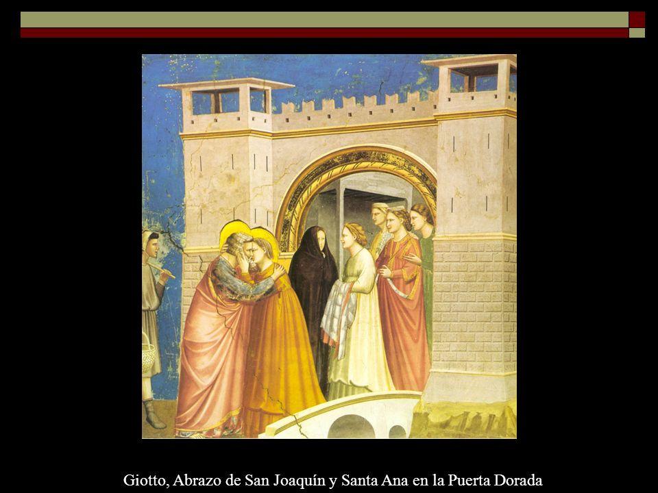 Giotto, Abrazo de San Joaquín y Santa Ana en la Puerta Dorada