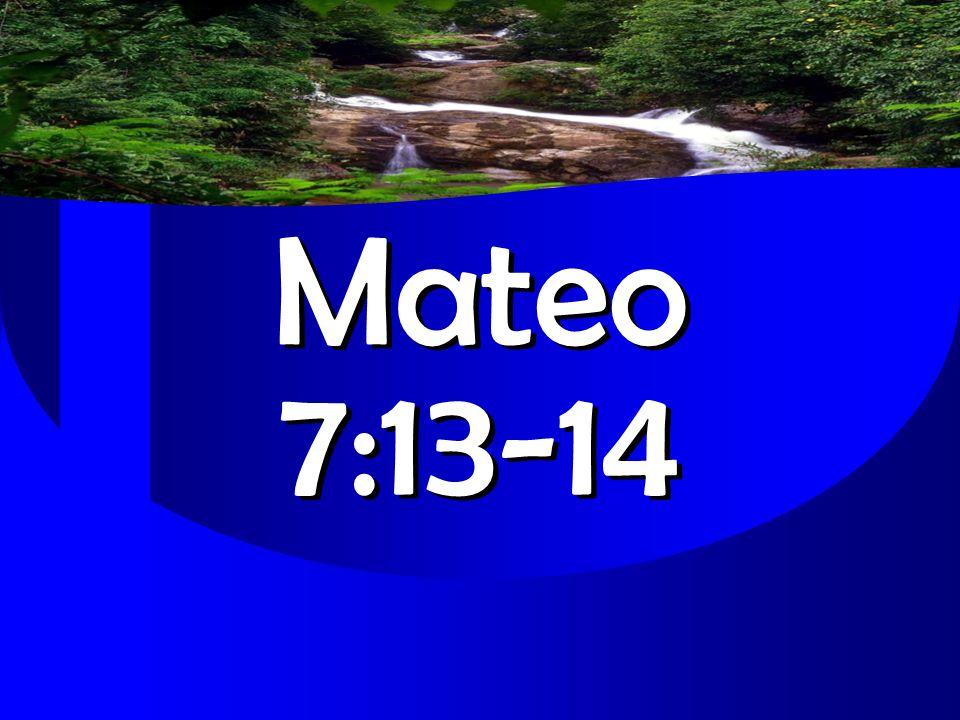 Mateo 7:13-14 Mateo 7:13-14